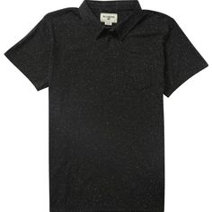 Billabong Unisex Standard Issue Polo Shirt ($40) ❤ liked on Polyvore featuring tops, black, knit tops, billabong tops, unisex tops, billabong, striped polo shirts and stripe top