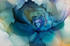 """Andrea Pramuk Art Studio, LLC — """"Systems Emanate"""" Ink on Claybord, . Alcohol Ink Crafts, Alcohol Ink Painting, Alcohol Ink Art, Art Watercolor, Watercolor Flowers, Silk Painting, Painting & Drawing, Acrylic Pouring Art, Painting Inspiration"""