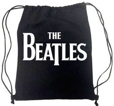The Beatles Classic Logo Cinch Drawstring Backpack Bag New Licensed #TheBeatles #Backpack