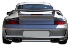 1999-2004 Porsche 996 C2 C4 997 Duraflex GT-3 RS Conversion Rear Bumper Cover - 1 Piece