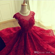 Customized service and Rush order are available. A Line Round Neck Short Lace Prom Dresses, Short Lace Formal Dresses, Graduation Dresses, Homecoming Dresses Red Lace Cocktail Dress, Red Lace Prom Dress, Lace Homecoming Dresses, Prom Dresses 2016, Dresses Short, Prom Dresses Online, Prom Party Dresses, Party Gowns, Formal Dresses