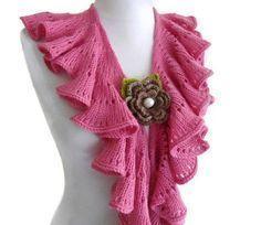 une écharpe au tricot .... avec explications