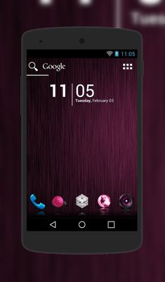"""Pink"" Android Theme. Free download  http://androidlooks.com/theme/t1258-pink/  #android, #androidthemes, #customization, #adwLauncher"