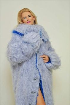 My Special Mohair Coats 💙 Mohair Sweater, Pulls, Mantel, Hand Knitting, Fur Coat, Lingerie, Pullover, Sexy, Sweaters
