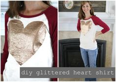 Glittered Heart t-shirt