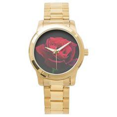 Valentines Day Red Rose wrist watch