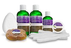 cool Skin & Hair Care Products Set - Organic & 100% Natural Ingredients - Facial Moisturizer, Facial Wash, Shampoo, Conditioner & Body Soap - Skin & Hair Care System Kit - Gift Set - for Men & Women - 10% OFF REGULAR PRICES - Includes Complementary Bath/Shower Exfoliating Gloves & Facial Sponge Or Pouf. Made With Certified Organic Ingredients - GUARANTEED Fresh - Every Bottle, Bar & Jar Made By Hand. No SLS, No SLES, No Parabens, No PG or PG Derivatives, No Harmful Chemicals (like synthetic…