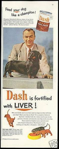 Vintage dog food ad.