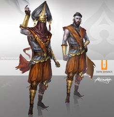 """Character design of the game """"Mirage : Arcane Warefare"""" by Torn Banner studio  http://fredaugis.tumblr.com/"""