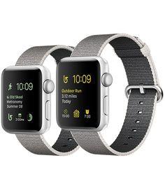 Shop Apple Watch Series 2 met ingebouwd gps, 42-mm kast van zilverkleurig aluminium en bandje van geweven nylon. Bestel online voor gratis bezorging of ga naar een Apple Store.