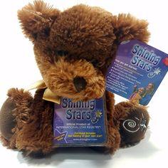 "Russ Berrie Shining Stars 10"" Plush Brown Bear: BNWT Collector's Item with Code #Russ #TeddyBear #Bear #BRown #ShiningStars #NWT #Plush #Stuffed #Collectable"