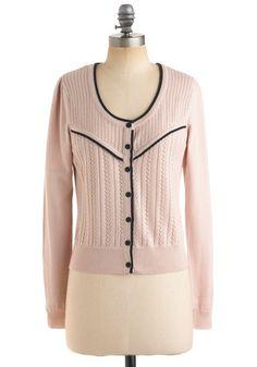 Pointelle Me More Cardigan | Mod Retro Vintage Sweaters | ModCloth.com - StyleSays