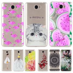 Phone Case sFor Huawei Y5II Y5 II 2 / Y6 II Compact / Honor 5A LYO-L21 Soft Silicon TPU Transparent Thin Cover Cute Cat Cases
