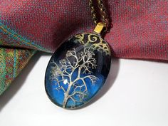 Reindeer Lichen Necklace, Moss Jewelry, Leaf Jewelry by Chaera on Etsy