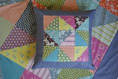 Pink Stitches: Hope Valley Pillow