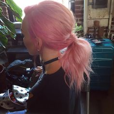 """37.6k Likes, 227 Comments - Kandee Johnson (@kandeejohnson) on Instagram: """"Cotton Kandee Pink Ponytail.... #cottoncandy #hair"""""""