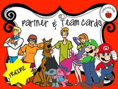 These cards put a spin on choosing partners/teams for group work. In my classroom, I will randomly distribute the cards as students come in. They are not allowed to swap. They are to determine what other students will be in their group. Partner Cards, Easel Activities, Group Work, Teacher Newsletter, Small Groups, Quizzes, Teacher Pay Teachers, Language Arts, Spin