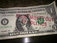@TotalTechvids on Twitter: @cenkuygur was funny to see this in my change tonight.  @TYTNetwork  #getmoneyoutofpolitics -- Found in New York!