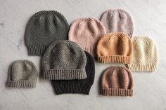 Fluffy Brioche Hat pattern by Purl Soho, un bonnet Fluffy Brioche Hat par Purl Soho. Baby Hats Knitting, Loom Knitting, Free Knitting, Knitting Socks, Knitted Hats, Crochet Hats, Crochet Slippers, Crochet Dolls Free Patterns, Baby Knitting Patterns