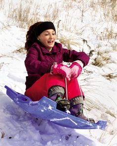Carli Johnson, 13, of Wildwood Crest finds a good spot to go sledding at Fern Avenue and the beach Friday, March 6.
