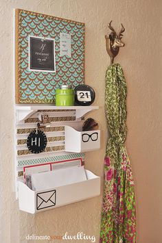 Delineate Your Dwelling: Message Center using Martha Stewart's Wall Manager System from Staples