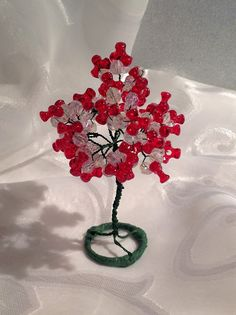 Rosa Enid Cruz Roque: Wire Miniature Trees 002 - Tri Trees