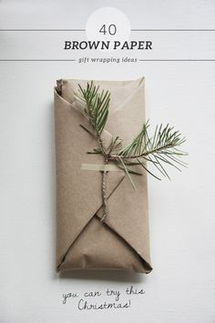 40 brown paper gift wrapping ideas #diy #giftwrapping