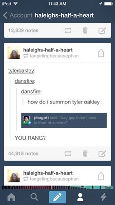 Hahahaha btw in case you cant see Tyler responded to this post