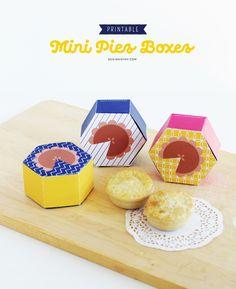 Printable Mini Pies Boxes