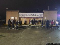 "RIGHTEOUS: Store Owners 'Use Their Own Guns' As Police Back Away In #Ferguson Looters in Ferguson, Missouri, were ""met with little police resistance"" as business owners say they ""were forced to protect their businesses with their own guns"" on Friday. A reporter from Fox2Now even said ""police cars were seen driving past some of the stores being looted and did not respond."""