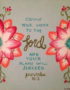 Proverbios 16.3