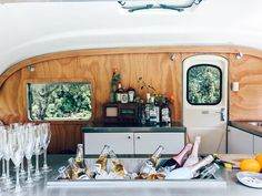 Check out Olive in her element - she is one photogenic little lady! Caravan Bar, Caravan Ideas, Caravan Conversion, Coffee Trailer, Bar Hire, Gin Bar, Mobile Boutique, Mobile Bar, Glamping