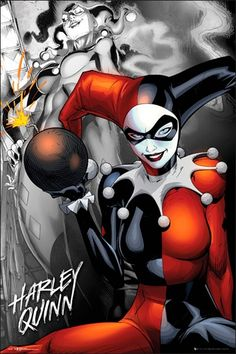 Poster BATMAN - Harley Quinn - http://rockagogo.com