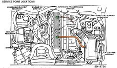 Engine Bay schematic showing major electrical ground ...