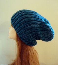 Super Slouchy Unisex Beanie Slouch Baggy Hat Knit Celebrity Hat Chunky Hat Spruce Winter Hat Men Women Accessories  by GrahamsBazaar, $25.00