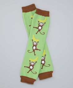 This Green Monkey Organic Leg Warmers by Bambino Land is perfect! #zulilyfinds