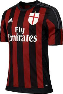 ab69bf385f9 AC Milan 2015 2016 adidas Home Football Kit