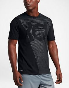 aaecccf3 NIKE KD KEVIN DURANT BLACK DRI FIT GRAPHIC TEE T SHIRT MENS SMALL NWT $35 #