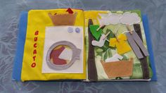 Quiet book, educational book, entirely handmade, made of felt and fabric, to introduce children to the world of books and keep them engaged