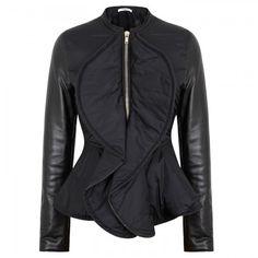 Givenchy - Padded peplum shell jacket