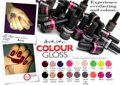 Artistic Colour Gloss swatches