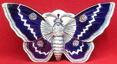 RARE LARGE ANTIQUE FRENCH FIVES LILLE MAJOLICA BUTTERFLY WALL POCKET C 1880
