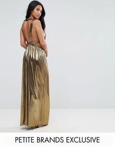 Wickelkleid gold