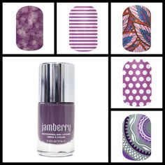 Purple Jamberry Nails and lacquer combo.  jillr.jamberrynails.net