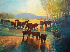 """""""COTTONWOODS AND CATTLE: RANCHLANDS 969by Mark Gould"""