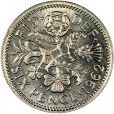 British Sixpence (old money) - small and pretty with the Welsh leek, English rose, Scottish thistle and Irish clover, and it could buy a young boy a lot of sweets in Celtic Culture, Scottish Thistle, Old Money, Old Coins, My Childhood Memories, My Heritage, British History, Coin Collecting, British Isles