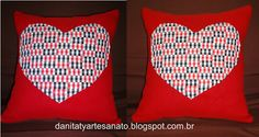 Almofada com retalhos Drink Sleeves, Happy New Year, Quilts, Throw Pillows, Craft
