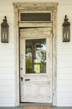 This photo is genuinely an amazing design concept. Cottage Door, Old Cottage, Vintage Doors, Antique Doors, Architectural Salvage, Architectural Elements, House Front Door, Front Doors, Front Porch