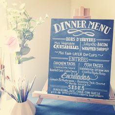 So pleased with how this wedding dinner menu sign turned out! #handlettering - @vhenderson3- #webstagram