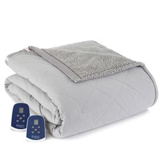 Blankets & Throws Serta Reversable Heated Electric Microfleece And Sherpa Throw Home & Garden Chocolate